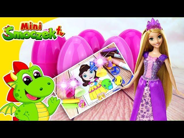 Księżniczki Disneya: Roszpunka i Jajka Niespodzianki | Bajki Zabawki Dla Dzieci Po Polsku