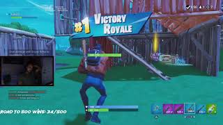 Angry Fortnite Player! Road to 500 Solo Wins - Fortnite Battle Royale Gameplay