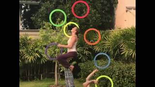 Acro-Juggling with the big rings!