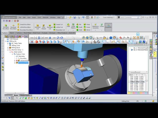 3+2 CAD CAM 3 Axis Milling Sample with True 4 Axis Cutting BobCAM V4