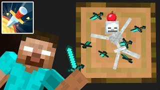 Monster School : Knife Hit - Mr Gun - Dunk Shot - Minecraft Animation