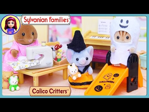 Sylvanian Families Calico Critters Halloween Dressup Sewing with Mother Set Silly Play - Kids Toys