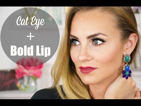 Cat Eye & Bold Lip for Fall   Angela Lanter