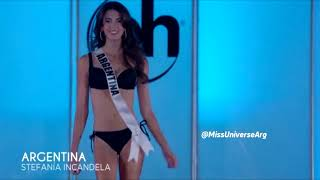 Miss Universe Argentina 2017 Stefania Incandela Preliminary Competition