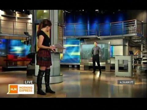 Robin Meade in black thigh-high boots - 22-Oct-2014