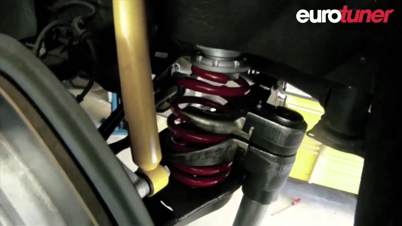 VW Passat 2.0T H&R suspension fitting - YouTube