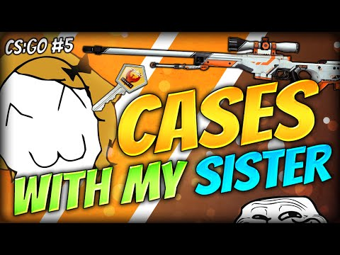 My Sister Is Lucky?!? Sister Case Opening! - Cs:go Case Opening (#5) video