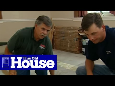 How to level a concrete floor this old house youtube for Concrete floor leveling