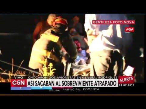 Así fue el rescate en el accidente aéreo de General Rodríguez