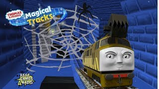DIESEL 10 Adventure in HAUNTED CASTLE | Thomas & Friends: Magical Tracks - Kids Train Set By Budge