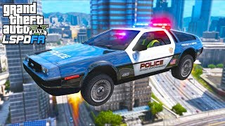 Flying DeLorean POLICE Car Patrol !! (GTA 5 Mods - LSPDFR Gameplay)