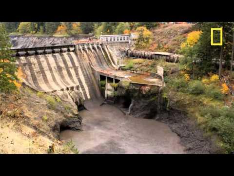 Осушение, сброс водохранилища