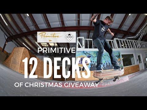 Skateboarding on 12 Decks at Once: Primitive 12 Decks of Christmas Giveaway