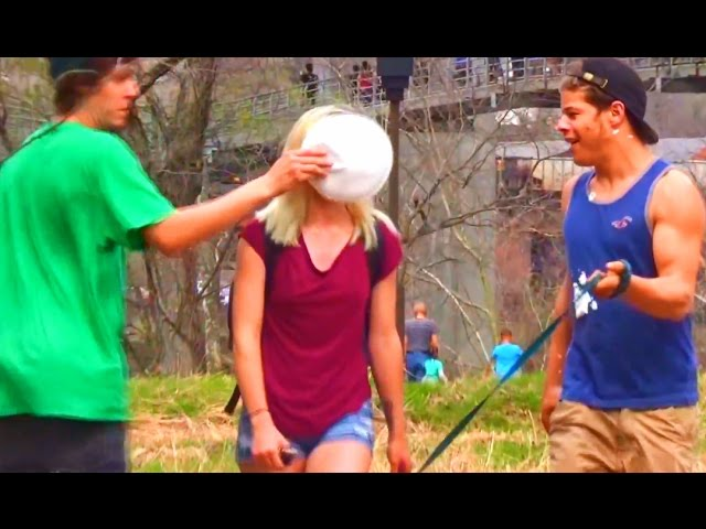 Pieing Girls in the Face Prank!