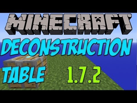 Minecraft 1.7.2 PC Mods: Deconstruction Table [Descargar E Instalar] HD