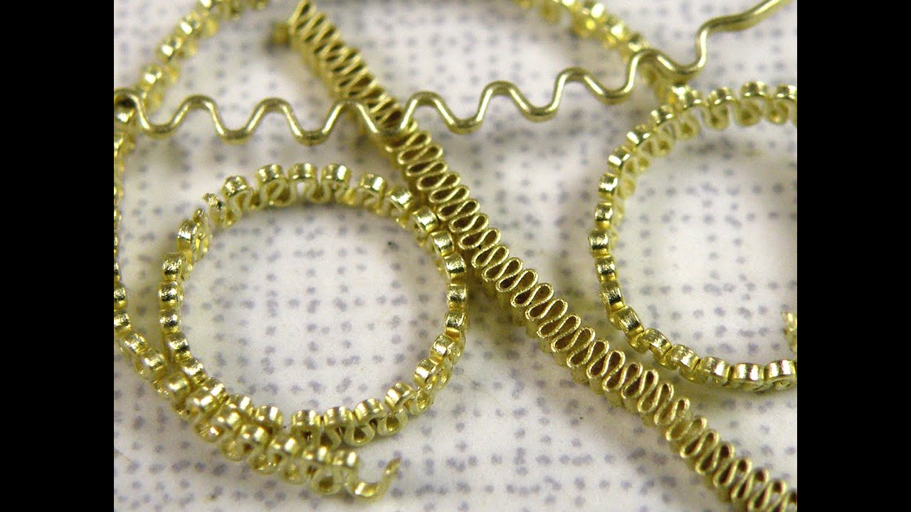 Jewellery Making Filigree Wire Etruscan - YouTube