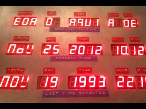 M�quina del tiempo. Delorean time machine
