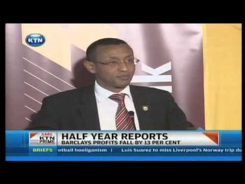 Barclays Bank of Kenya's Half year Pre-tax Profit