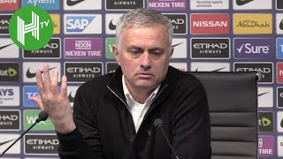 Man City 3-1 Man United | Jose Mourinho snaps at journalist who questions United's title chances