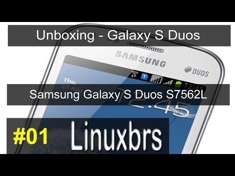 Samsung Galaxy S Duos GT - S7562 - UNBOXING - PT-BR BRASIL - PORTUGUÊS