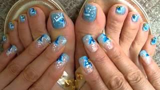 Feet nail art maiking ideas