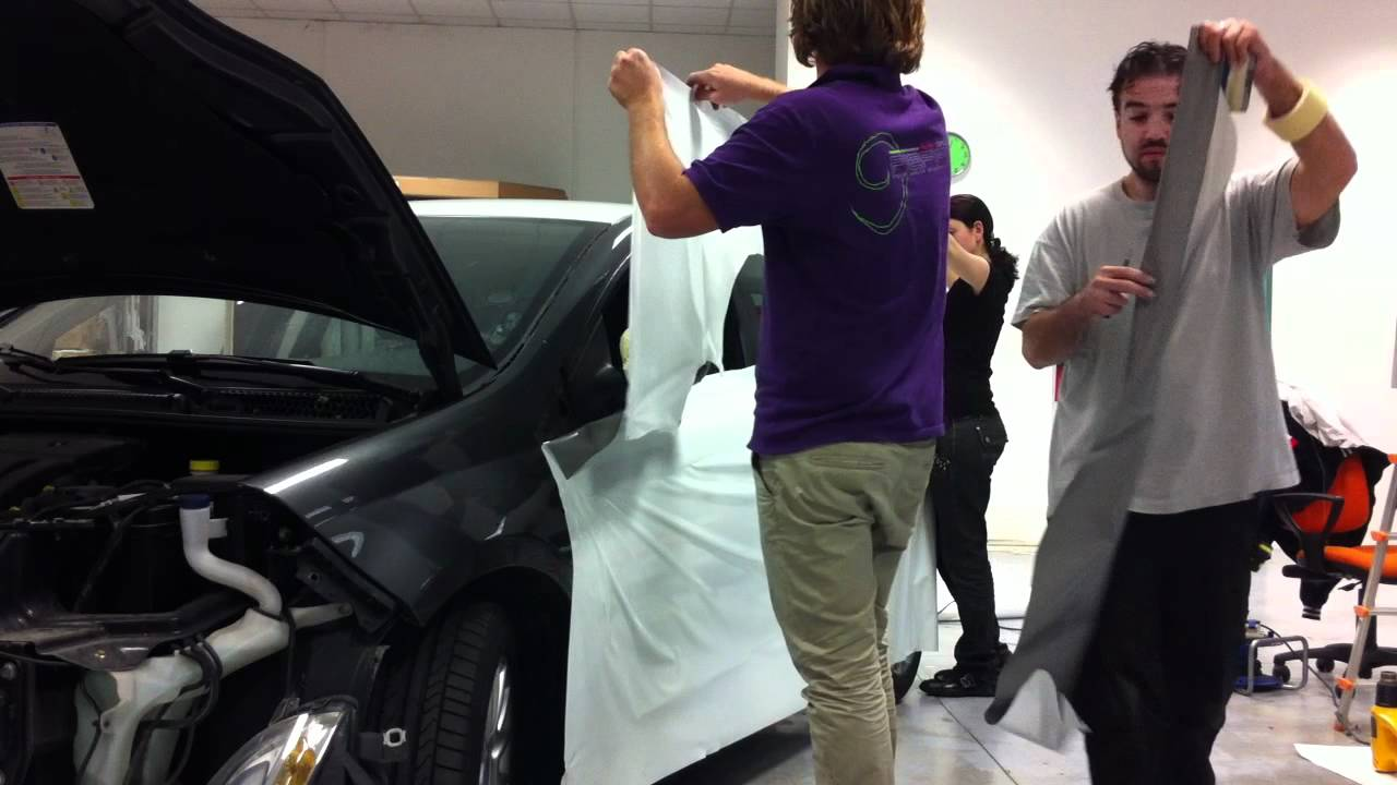 Pellicola Wrapping Bianco Car Wrapping   Taxi Bianco
