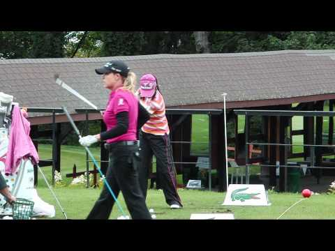 Ai Miyazato warming up at evian masters 2011