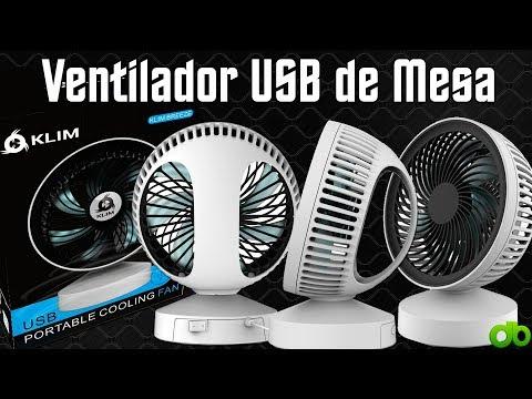 KLIM Breeze - Ventilador USB de escritorio / mesa de alto desempeño Unboxing y Review