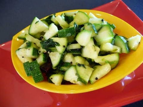 How To Make Zucchini Tossed With Cilantro And Lime - Indian Recipe