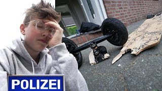 Mieser LONGBOARD CRASH (Polizei 🚨)