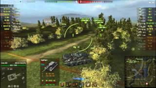 World of Tanks Взрыв БК с отлётом башни - Видео от Пинтастик