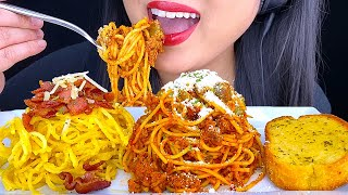 ASMR SPAGHETTI & CARBO NOODLES *Homemade* (ASMR Eating No Talking) ASMR Phan