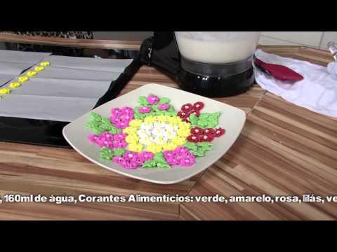 Receitas Bom Sabor 25 04 2013 Emilia Capua - Flores Miosótis Com Glace Real video