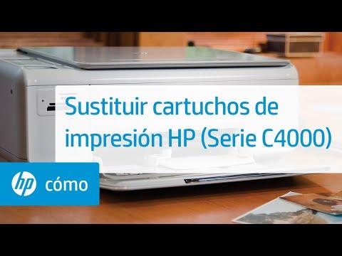 Sustituir cartuchos de impresión HP (Serie C4000)