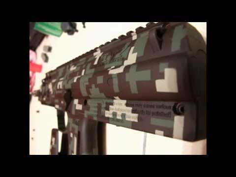 Painting Digital Camo - custom style my paintball gun