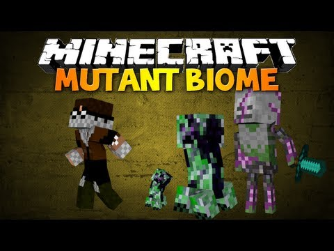 Minecraft: Mutant Biome mod - ZOMBIE SKELETON, MUTATED CREEPER & MORE!