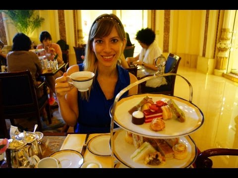 Having Afternoon English Style High Tea at the Peninsula Hotel in Hong Kong, China (香港半島酒店)