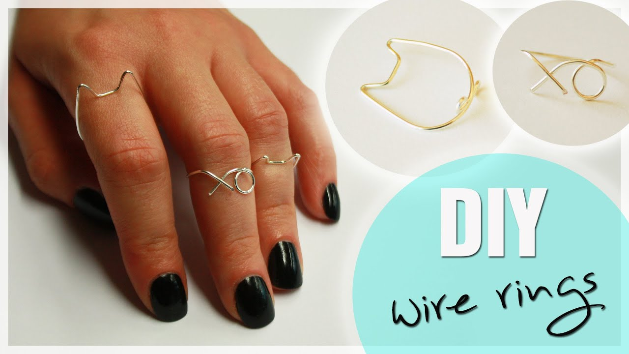 Diy Wire Midi Rings Cat Amp Xo Ring Wire Ring Tutorial