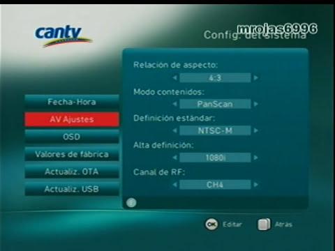 Zapping de Canales CANTV Televisión Satelital (11 de Noviembre de 2013)