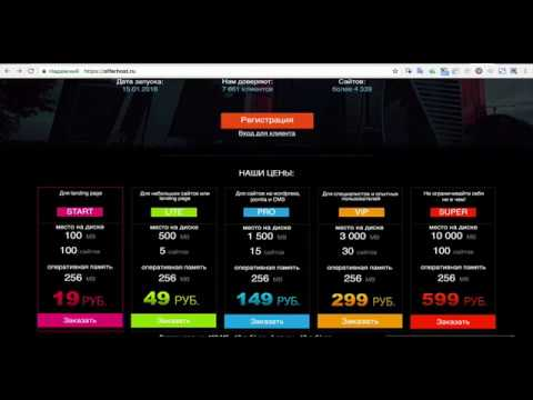 Надежный и дешевый хостинг за 19 руб для парковки доменов и одностраничных сайтов