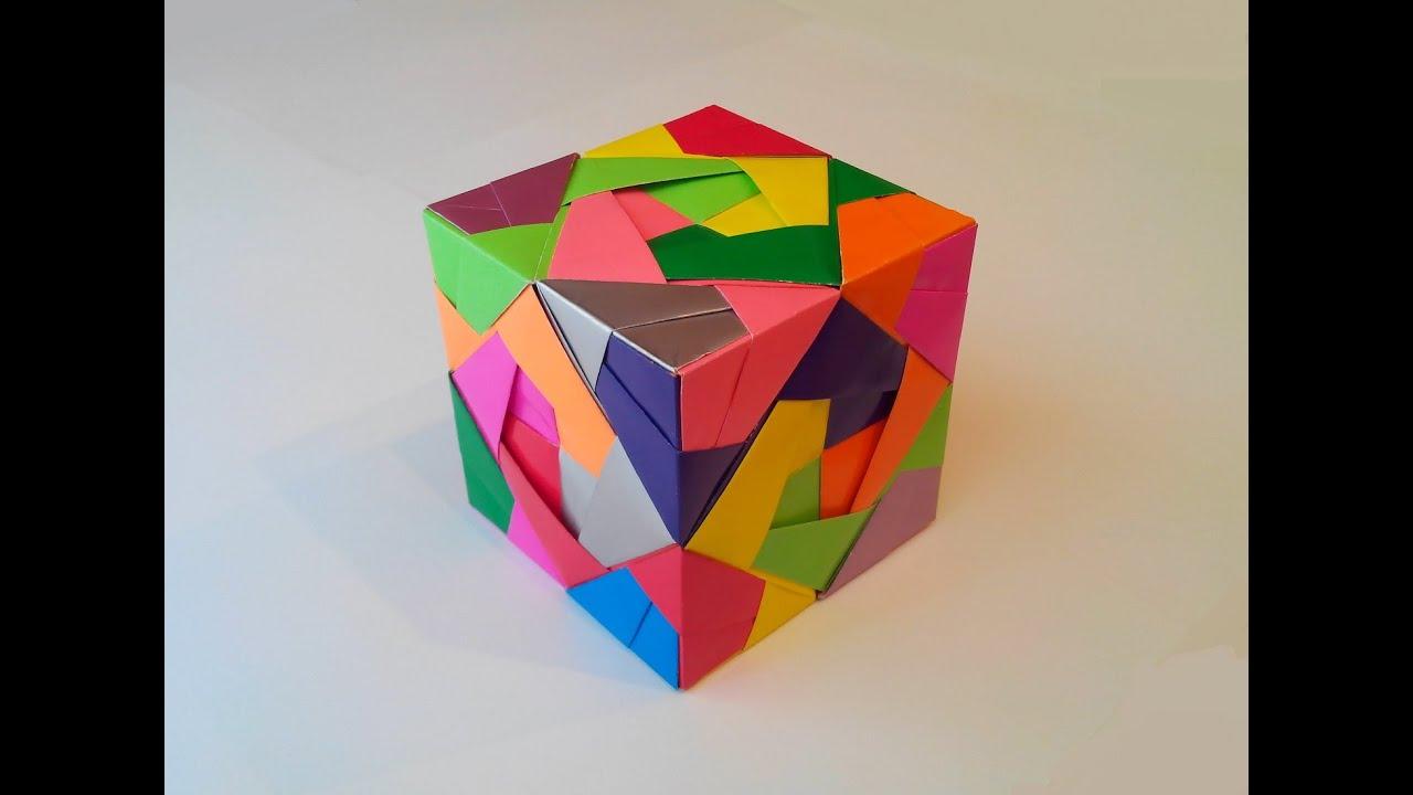 Куб трансформер из бумаги » Сделай сам 59