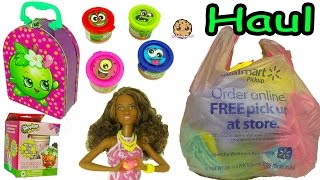 Surprise Barbie Blind Bags, Shopkins Stampers, Scented Dough - Walmart Haul Video