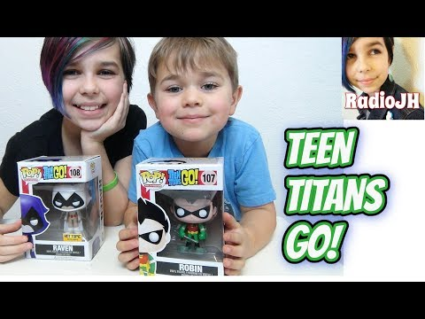 Teen Titans Go! - FUNKO POP Raven and Robin Review!