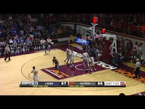 Top Plays: Duke 91 Virginia Tech 86 (OT)