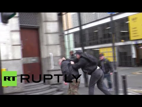 Rage & fists: Clashes in Manchester during 'White Pride Worldwide Day' rally