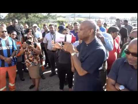 JTUM Steel Workers Protest. @ ArcelorMittal - 25:08:2015, Trinidad & Tobago