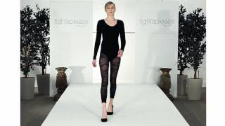 Skinny Model Wears Sexy Lace Tights on Catwalk