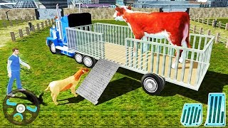 Real Tractor Farm Animal Truck Driving Transport Simulator - Best Android GamePlay #2