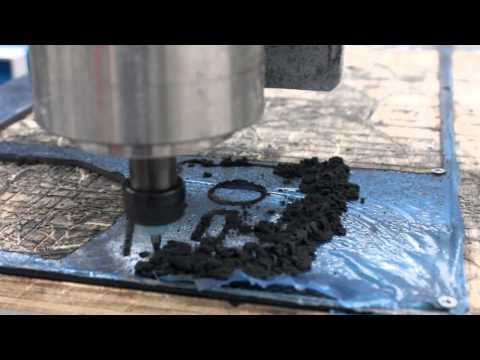DIY CNC 6040 - Carbon Fibre routing at home