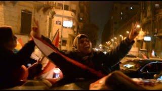 من ميدان التحرير الجماهير تحتفل بانتهاء زمن الاخوان